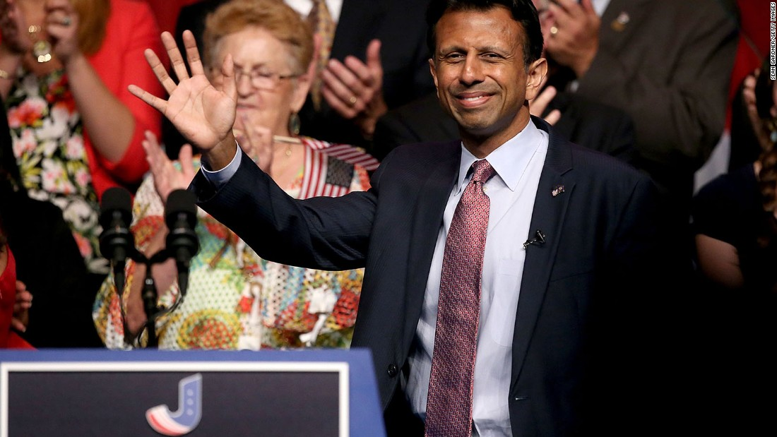 Louisiana Gov. Bobby Jindal, Republican, who has dropped out of the presidential race