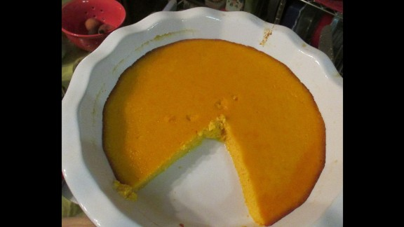 """Pudding was akin to our modern love of cupcakes, Connell said. This curious recipe for """"carrot pudding"""" from 1730 turned out surprisingly well, resulting in a pumpkin pie-like custard that was absolutely delicious."""
