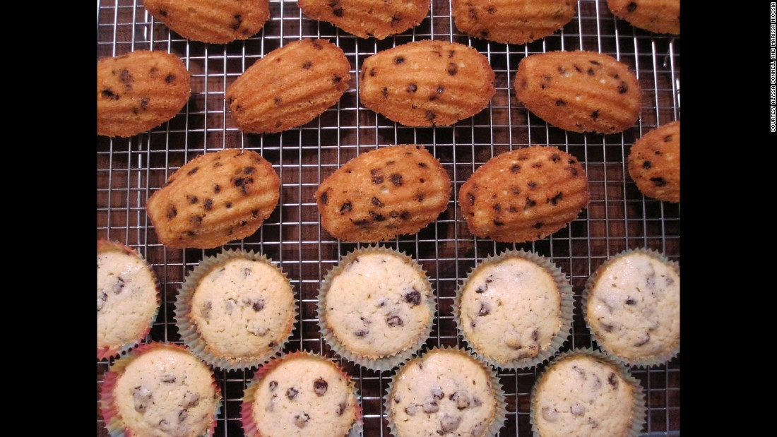 "Though many things we would consider to be cookies or muffins today were originally called cakes, these ""<a href=""http://rarecooking.com/2014/12/29/potingallportugal-cakes/"" target=""_blank"">Potingall/Portugal cakes</a>"" are actual little ""moist and dense"" cakes. Connell baked some of them in a madeleine pan for fun."