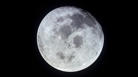 A photo of the full moon taken from Apollo 11. At the time, the spacecraft was 10,000 nautical miles from Earth.
