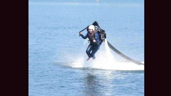 Lawson's least favorite experience? Trying a water jetpack. One of her phobias involves open water and the ocean.