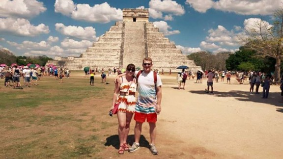 They also visited Chichen Itza, a large pre-Columbian city built by the Maya,  in Yucatan, Mexico.