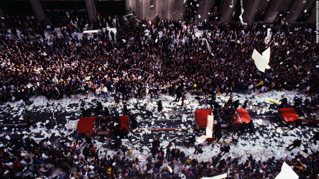 The baseball team the New York Mets have had participated in three ticker tape parades. Twice they were celebrated for winning the World Series, while the other parade was when the team joined the National League. By contrast, the New York Yankees have been in parades seven times.