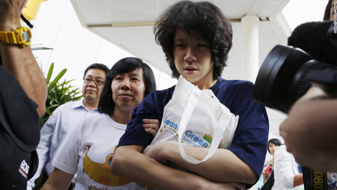 "Teen blogger Amos Yee leaves a Singapore court with his parents on Monday, July 6. Earlier this year, the 16-year-old was arrested after he published an expletive-laden YouTube video praising the death of Singapore's first Prime Minister, Lee Kuan Yew. Yee was found guilty of ""obscenity"" and ""wounding religious feelings,"" <a href=""http://www.cnn.com/2015/07/06/asia/singapore-teen-blogger-amos-yee-freed/"" target=""_blank"">but a judge released him on time served. </a>"