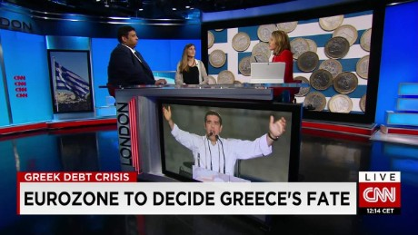exp Raoul Ruparel, Open Europe and Danae Kyriakopoulou, CEBR, discuss Grexit. _00002001