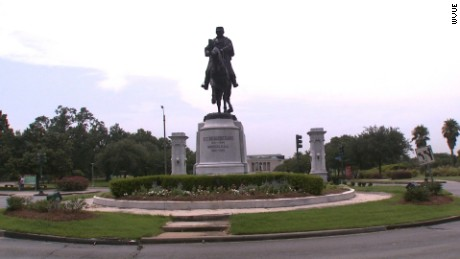 Statue of Louisiana native and Confederate Gen. P.G.T. Beauregard is located near New Orleans City Park.