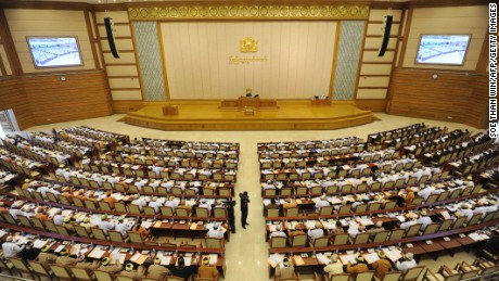 Myanmar's lower house of parliament in the capital, Naypyidaw.