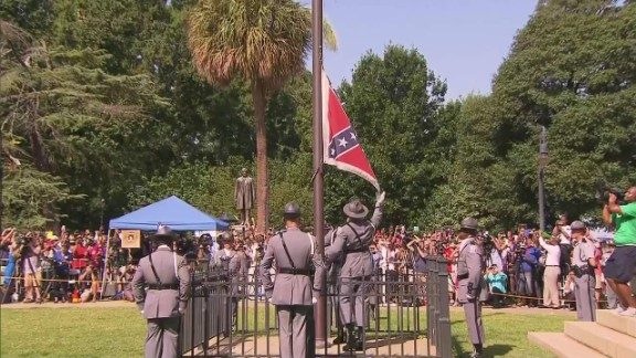 "After flying for 54 years on South Carolina's Capitol grounds, it took only a moment to take down the Confederate flag on July 10, 2015. Years of deep-rooted controversy over the banner gained steam after the June massacre of nine black churchgoers in Charleston. ""This flag, while an integral part of our past, does not represent the future of our great state,"" Gov. Nikki Haley said as she called for its removal."