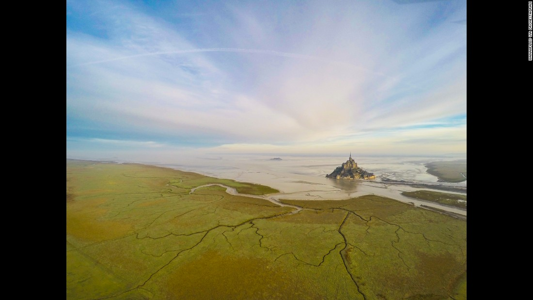 "<strong>2nd Prize Winner, Places category</strong>: <a href=""http://www.dronestagr.am/mont-saint-michel-8/"" target=""_blank"">Mont Saint-Michel</a> in Normandy, France"