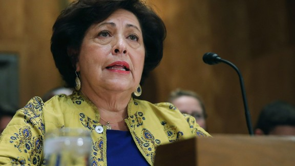 WASHINGTON, DC - JUNE 25:  The Office of Personnel Management Director Katherine Archuleta testifies before the Senate Homeland Security and Governmental Affairs Committee about the recent OPM data breach in the dirksen Senate Office Building on Capitol Hill June 25, 2015 in Washington, DC. Archuleta said that the recent report that 18 million current, former government employees and people who applied for jobs had their personal data stolen is not confirmed and that only 4.2 million records had been breached.  (Photo by Chip Somodevilla/Getty Images)