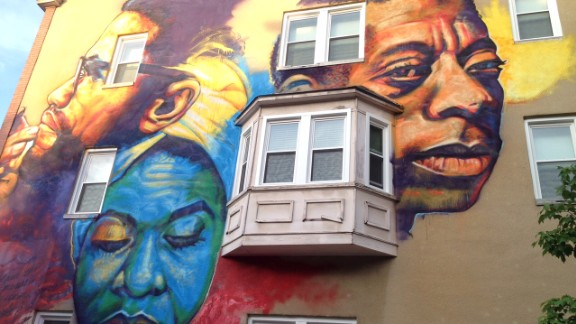 Artist Ernest Shaw painted Nina Simone in his Baltimore civil rights mural.