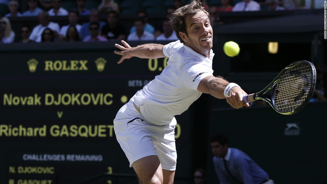 The French 21st seed lost in straight sets, as he did in his only other semifinal appearance in southwest London eight years ago.