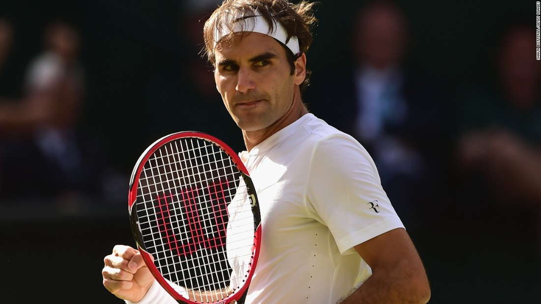 Roger Federer had his game face on as he dismantled Andy Murray's hopes of playing in another Wimbledon final.