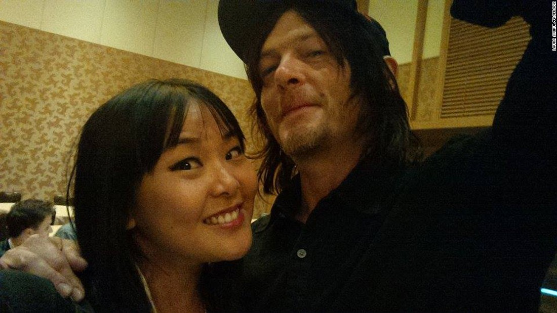 "San Diego Comic-Con is a great place to meet your favorite celebrities and this year's event was no different. Laura Sirikul ran into ""The Walking Dead"" fan favorite Norman Reedus."