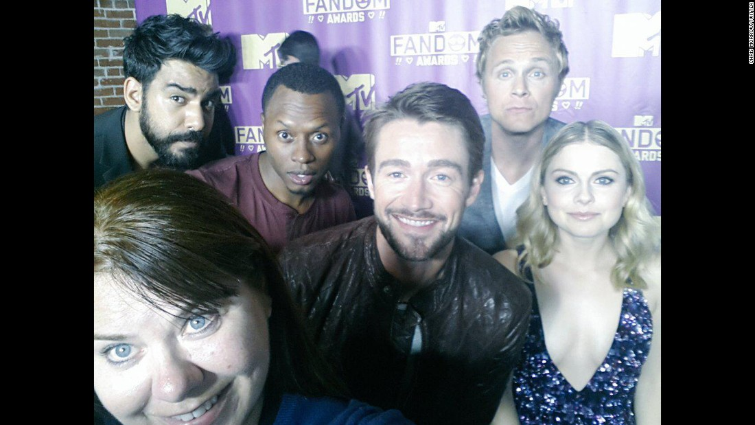 "Giving Ellen DeGeneres a run for her money, Chris Morrow snapped this photo with the entire cast for the CW's ""iZombie."""