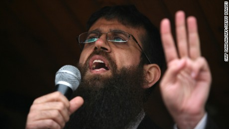 Khader Adnan, a member of Islamic Jihad, was released from an Israeli jail Sunday. In this 2012 photo, he addresses a crowd in the West Bank following a prior release from jail.
