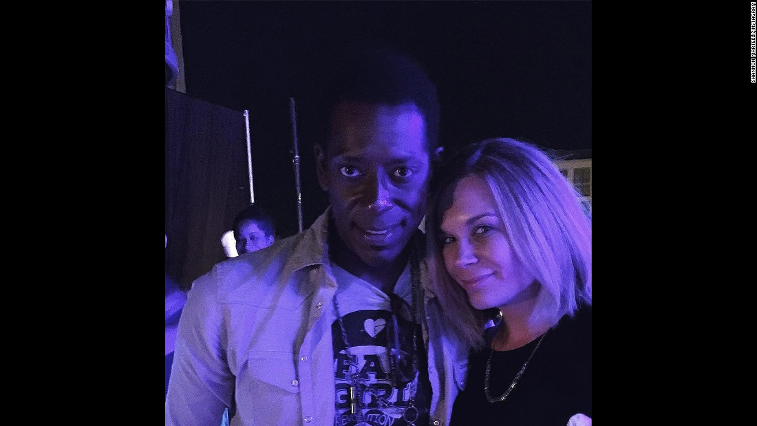 "Shannon Martelli took this evening selfie with ""Sleepy Hollow"" and ""Mad TV"" star Orlando Jones."