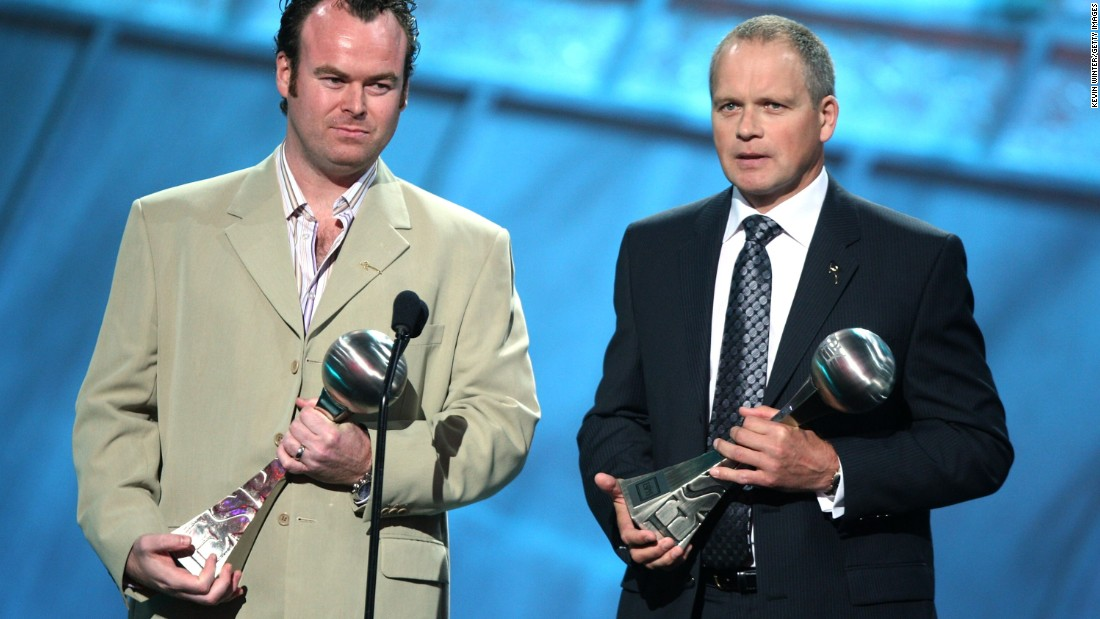 "<strong>Trevor Ringland</strong> and <strong>David Cullen</strong> received the 2007 award. They worked with Peace Players International, a nonprofit organization that teaches children basketball because ""<a href=""http://www.peaceplayersintl.org/about"" target=""_blank"">children who play together can learn to live together</a>.""  When Ringland accepted the award, <a href=""http://www.arthurashe.org/blog/ashe-award-winners-espy-arthur-ashe-award-for-courage-special"" target=""_blank"">he said</a>, ""Ask yourself, can you do more? What small steps can you take? And encourage others, recognizing that if we all take a small step for positive change, it has a massive impact on the many problems of this world."""