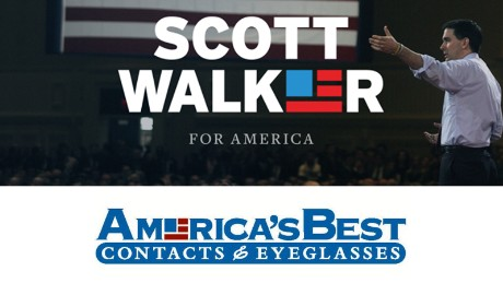 The similarity between Wisconsin Gov. Scott Walker's logo and America's Best Eyeglasses had some tweeters ticked off.