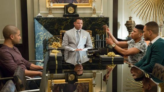 The cast of 'Empire' from left to right in a scene from 2015: Jussie Smollett, Terrence Howard, Bryshere Gray and Trai Byers.