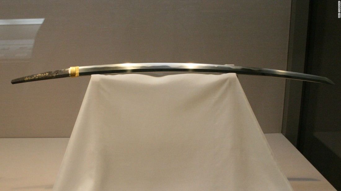 In Japan, over 100 swords have national treasure status, including this 13th Century katana produced by Masamune, recognized as the greatest smith of all time.
