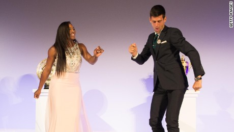How Serena got Novak dancing at Wimbledon