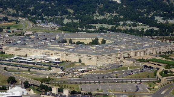 The Pentagon is seen from the air over Washington, DC on August 25, 2013. The 6.5 million sq ft (600,000 sq meter) building serves as the headquarters of the US Department of Defense and was built from 1941 to1943. AFP PHOTO / Saul LOEB (Photo credit should read SAUL LOEB/AFP/Getty Images)