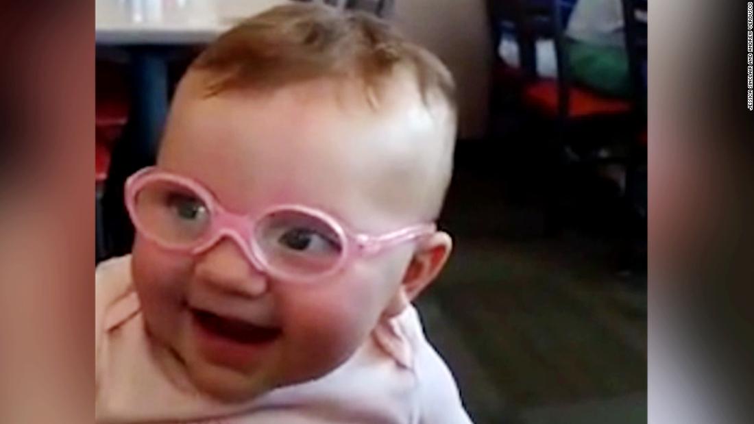 e3632ecef7 Baby s adorable reaction to glasses - CNN Video