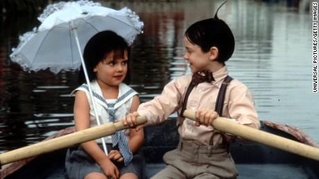 "Bug Hall rows Brittany Ashton Holmes in ""The Little Rascals."""