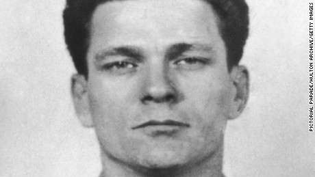 A mug shot of Frank Lee Morris, taken on his arrival at Alcatraz Federal Penitentiary on January 20, 1960.