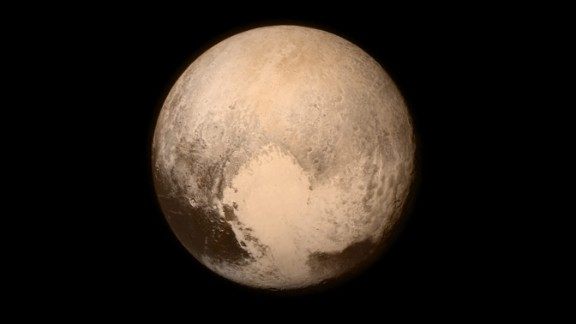 This image of Pluto was captured by New Horizons on July 13, about 16 hours before the moment of closest approach. The spacecraft was 476,000 miles from Pluto's surface.