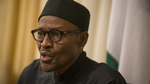 Nigerian leader favors negotiation over military action to help free schoolgirls