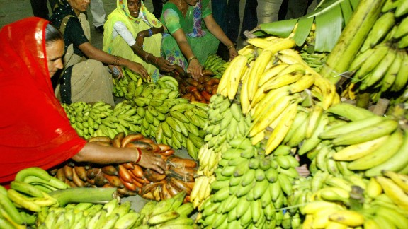 India is the world's leading producer of bananas, and has hundreds of local varieties.