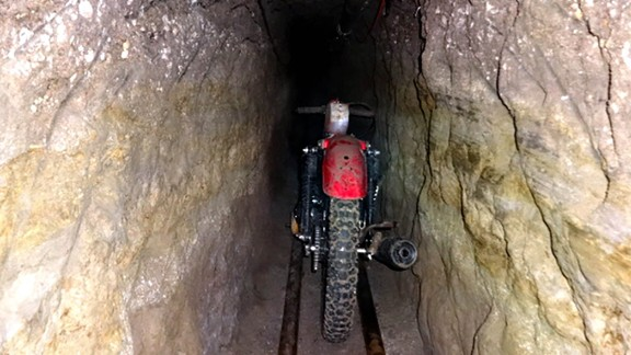 "Authorities say there was a modified motorcycle on tracks inside the tunnel Joaquin ""El Chapo"" Guzman used to escape from a maximum-security prison."