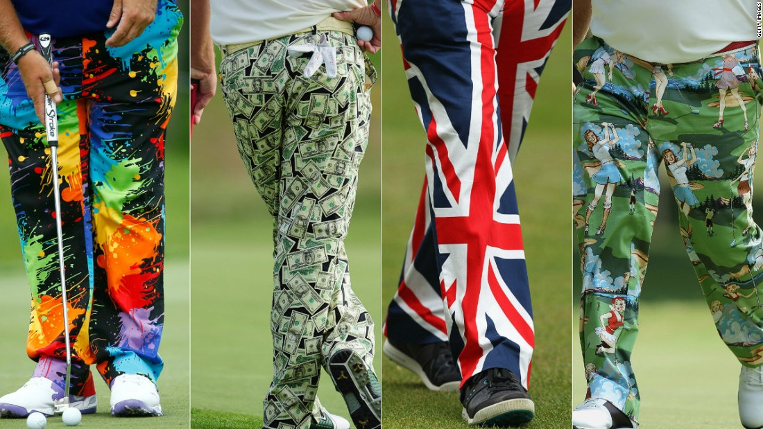 "Known as ""Wild Thing,"" Daly has cultivated a reputation for wearing exuberant designs, notably his garish trousers."