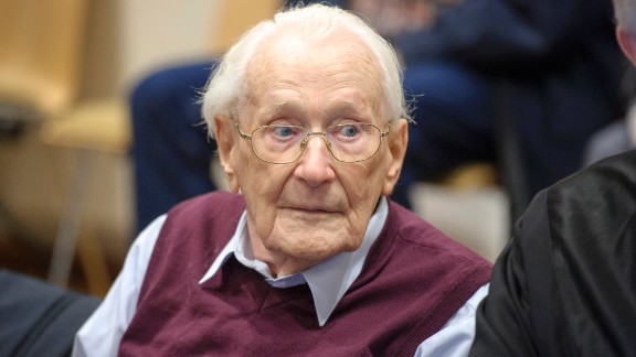 """Former Nazi officer Oskar Groening, known as """"the bookkeeper of Auschwitz,"""" was sentenced this week to four years in prison. Groening, who"""