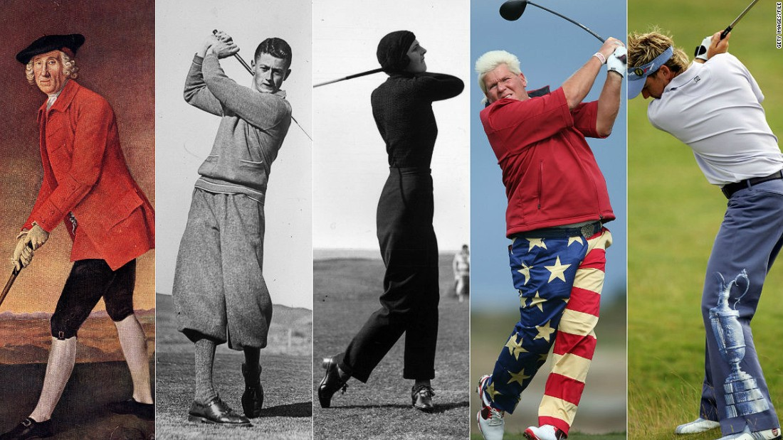 From the lurid colors of John Daly's trousers right back to the first swingers in the 17th century, golfers have always tried to stand out from the crowd.
