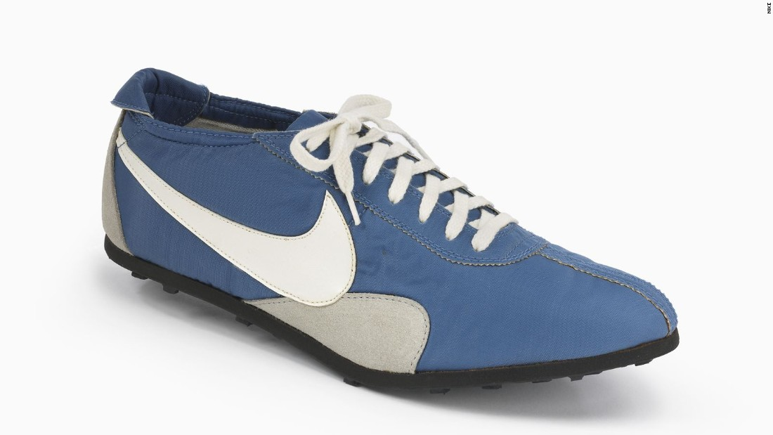 "The Nike ""Moon Shoe,"" with its waffle sole designed by Bowerman, was Blue Ribbon Sports' first major design innovation when it debuted at the U.S. Olympic Track and Field Trials in 1972. It was nicknamed the ""Moon Shoe"" because it left craters in the dirt."