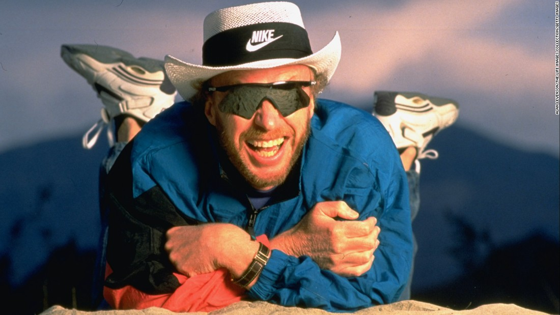 Knight poses for a photo in March 1994. He was Nike's chairman and CEO.