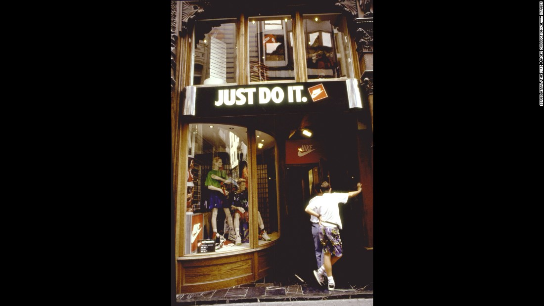 "Nike debuted its signature ""Just Do It"" slogan in 1988."