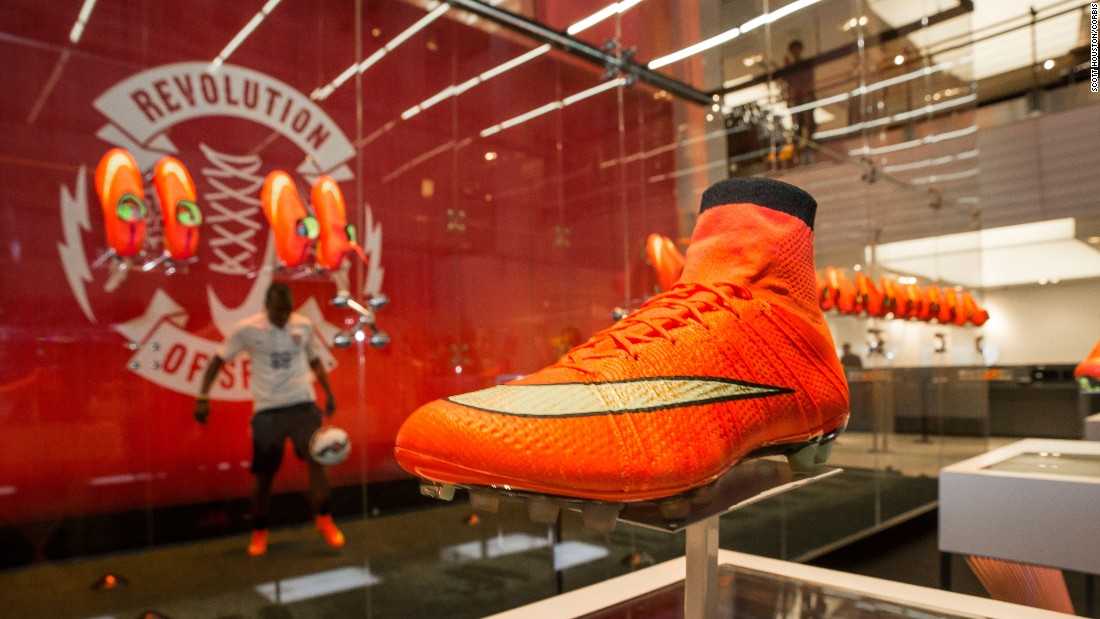 Nike's come a long way since its first track shoes. Here is one of its new soccer cleats launched in New York for the 2014 World Cup.