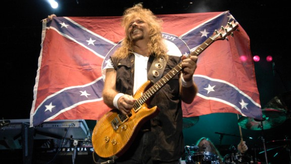 """The Southern rock band Molly Hatchet has defended its use of the flag. """"We still stand by our heritage, which is the South,"""" guitarist Bobby Ingram told Hot Metal in 2013. """"I don't look at it as being racist at all. I look at it as heritage, not hate."""""""