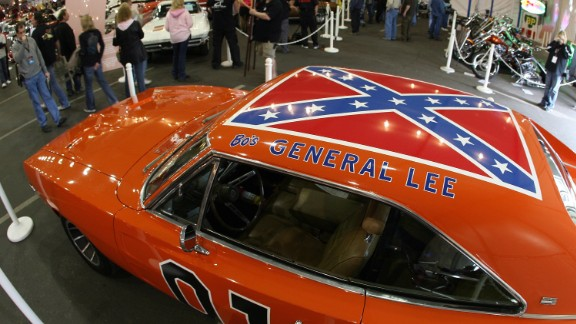 """The General Lee, the 1969 Dodge Charger from the TV show """"The Dukes of Hazzard,"""" featured a flag on its roof. Warner Bros. said it would no longer license models of the car with the flag. One of the show's stars, John Schneider, told The Hollywood Reporter that he was unhappy with the decision. Though acknowledging others may see it as a symbol of racism, he said, """"If the flag was a symbol of racism, then Bo and Luke and Daisy and Uncle Jesse were a pack of wild racists and that could not be further from the truth."""""""