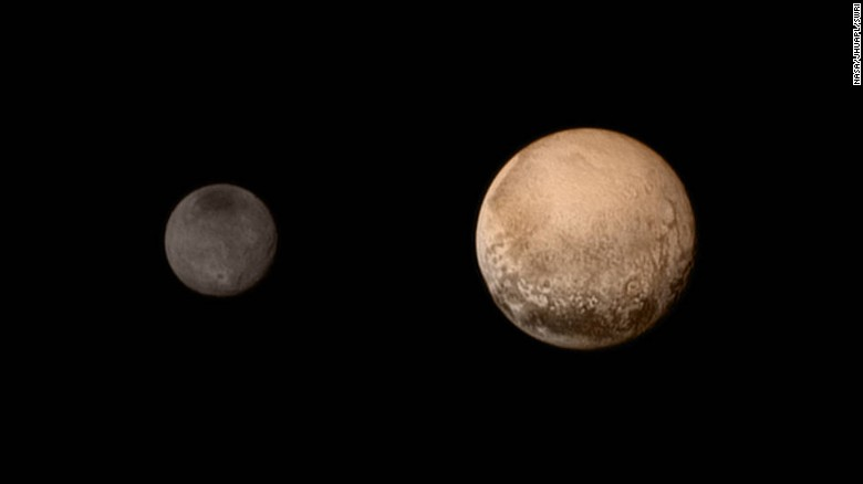 """No spacecraft had ever gone to Pluto before NASA's <a href=""""https://www.nasa.gov/mission_pages/newhorizons/main/index.html"""" target=""""_blank"""">New Horizons</a> made its fly-by on July 14, 2015. The probe sent back amazing, detailed images of Pluto and its largest moon, Charon. It also dazzled scientists with new information about Pluto's atmosphere and landscape. New Horizons is still going today, heading out into the Kuiper Belt."""