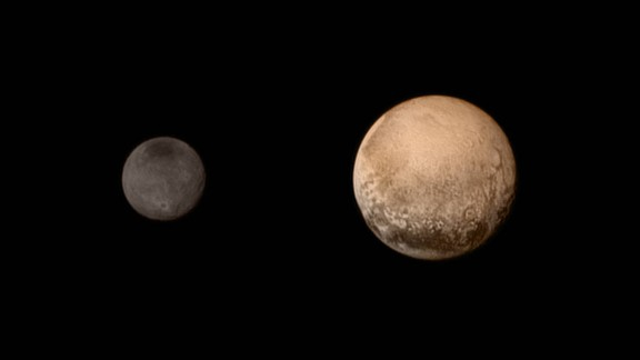 No spacecraft had ever gone to Pluto before NASA's New Horizons made its fly-by on July 14, 2015. The probe sent back amazing, detailed images of Pluto and its largest moon, Charon. It also dazzled scientists with new information about Pluto's atmosphere and landscape. New Horizons is still going today, heading out into the Kuiper Belt.