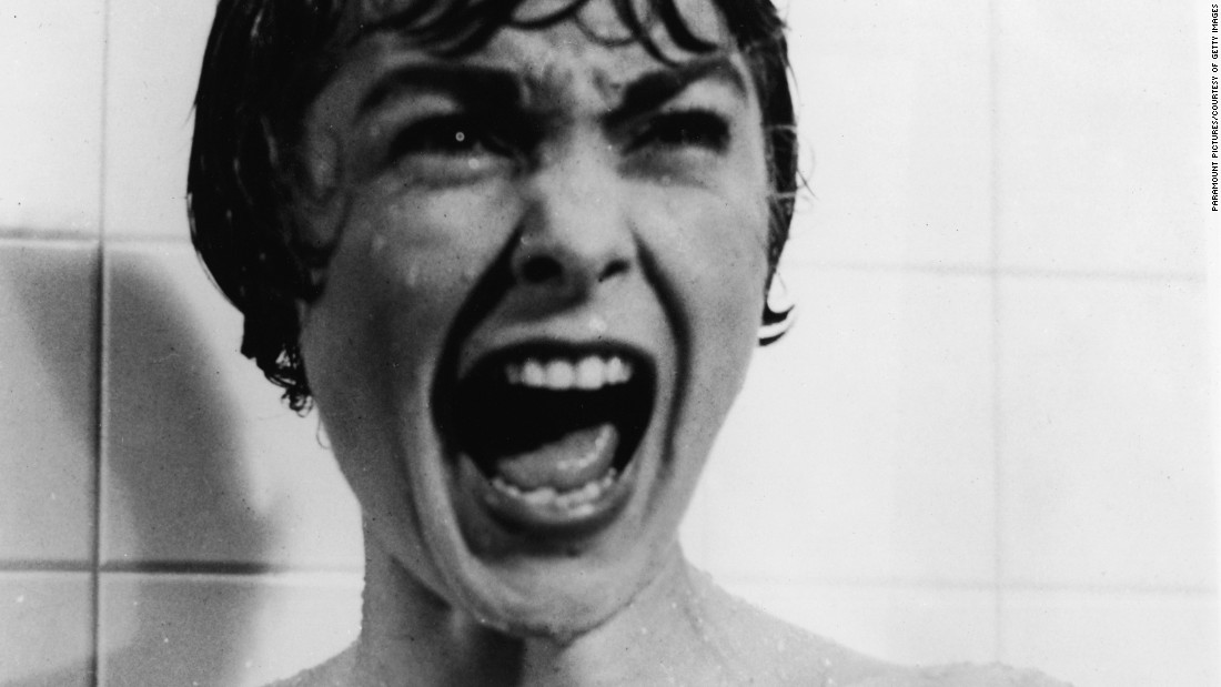 "Janet Leigh's  screams in the<a href=""https://www.youtube.com/watch?v=bT7a8Gv9qdA"" target=""_blank""> famous shower scene</a> from the film ""Psycho"" are often cited as the most frightening put on the silver screen. The 1960 film was directed by Alfred Hitchcock."