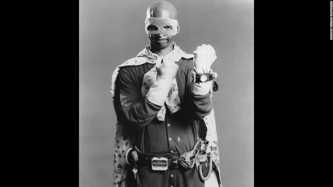 "Damon Wayans took on the superhero genre as the klutzy title character of the movie ""Blankman."""
