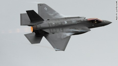 An F-35A Lightning II prepares to land at Hill Air Force Base in Utah in 2013.