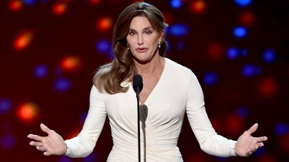 "Caitlyn Jenner accepts the Arthur Ashe Courage Award during the ESPYs in Los Angeles on Wednesday, July 15. In her first speech since identifying as transgender, she said she wants to ""reshape the landscape of how trans issues are viewed."""