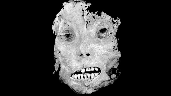 Photographer Lorry Salcedo traveled the coast of his native Peru, documenting mummies that were more than 1,000 years old. This face is from a child, age 8-10, from the Wari Empire (550-1000 A.D.).
